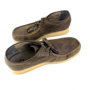Clarks Stinson Low Mens Brown Wallabees 11M